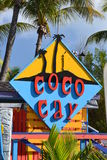 Coco cay sign. The sign for the name of an island visited by Royal Caribbean Cruise line Royalty Free Stock Photography