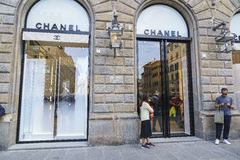 Coco Chanel fashion shop in Italy Stock Images