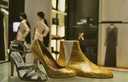 Coco Chanel winter fashion store in Italy Stock Photography