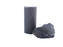 Coco charcoal isolated on white background Royalty Free Stock Photography