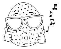 Coco del colorante que silba con las gafas de sol stock de ilustración