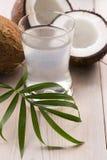 Coco e água do coco Fotos de Stock