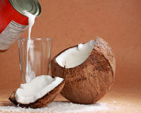 Coco milk and coconut Stock Photo