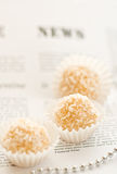 Coco-nut candies royalty free stock photography