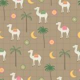 Coco, ornamento, camelo, lua no vintage imagem de stock