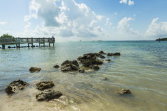 Coco Plum Beach, Florida Royaltyfria Foton