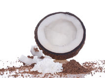 Coco pulp. Isolation on the white Royalty Free Stock Image