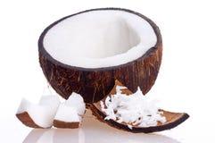 Coco rachado Imagens de Stock