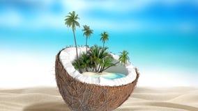 Coco tajado stock de ilustración