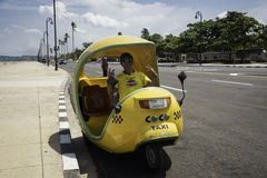 Coco taxi, Havana. Cocotaxis for tourists in La Habana Cuba Royalty Free Stock Photos