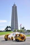 Coco taxis in Havana, Cuba stock photography