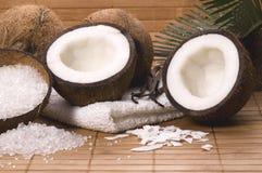 Coco and vanilla bath royalty free stock photos