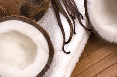 Coco and vanilla bath Royalty Free Stock Image