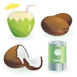 Coco y productos Imagen de archivo