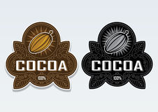 Cocoa 100% Seal, Sticker. Beautiful classic seal certifying 100% Cocoa products royalty free illustration