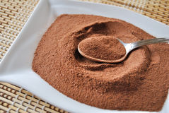 Cocoa. Powder in the pot Royalty Free Stock Image