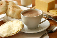 Cocoa. A cup of cocoa on the table Royalty Free Stock Images