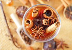 Cocoa with aroma spice Stock Photo