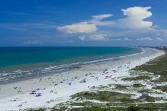 Cocoa beach, Cape Canaveral. Endless Cocoa beach in Cape Canaveral, FL, USA stock photography