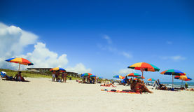 COCOA BEACH, FL - June 21, 2014 - People on vacantion at Cocoa b Royalty Free Stock Photo