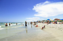 COCOA BEACH, FL - June 21, 2014 - People on vacantion at Cocoa b Stock Photography