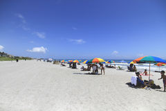 COCOA BEACH, FL - June 21, 2014 - People on vacantion at Cocoa b Stock Image