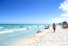 COCOA BEACH, FL - June 21, 2014 - People on vacantion at Cocoa b Royalty Free Stock Images