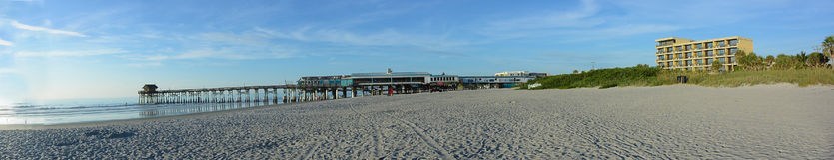 Cocoa Beach Pier. Early morning at cocoa beach pier Royalty Free Stock Photography