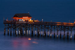 Cocoa Beach Pier at Sunset Royalty Free Stock Photography
