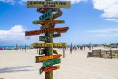 Cocoa Beach. Sign at Cocoa Beach, Florida/USA Royalty Free Stock Photos