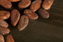 Cocoa beans background Royalty Free Stock Images