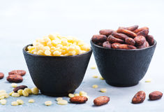 Cocoa butter and beans Stock Photos