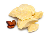 Cocoa butter and beans Royalty Free Stock Photos