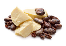 Cocoa butter vith nibs. Royalty Free Stock Photo