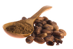 Cocoa (cacao) beans Royalty Free Stock Photo