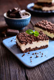 Cocoa cake with cottage cheese stock images