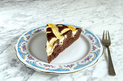 Cocoa cake with cream cheese Royalty Free Stock Image