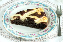 Cocoa cake with cream cheese Royalty Free Stock Photography