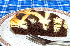 Cocoa cake with cream cheese Royalty Free Stock Photo