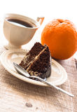 Cocoa cake dessert brownie sweet coffee cup Royalty Free Stock Photo