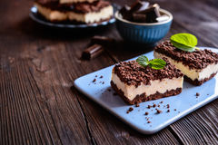 Cocoa Cake With Cottage Cheese Royalty Free Stock Image