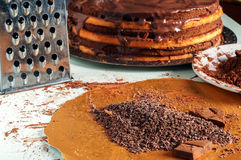 Cocoa and cakes. Different ingredients for chocolate cake Stock Photo