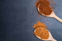 Cocoa and carob powder. Stock Photo