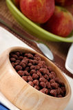 Cocoa cereal balls Stock Images