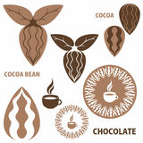 Cocoa. Chocolate. Cocoa Bean Royalty Free Stock Image