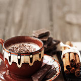 Cocoa and chocolate Stock Images