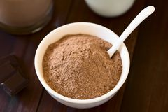 Cocoa or Chocolate Drink Powder stock images