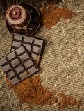 Cocoa and chocolate still-life Royalty Free Stock Images
