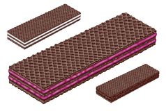 Cocoa chocolate wafer. Wafers food chocolate white amount stock image