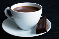 Cocoa with chocolates Stock Photos